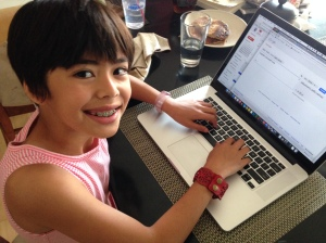 Kid1 Using Google Translate